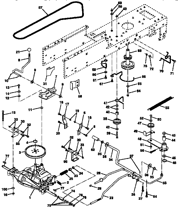 CRAFTSMAN Lawn, Tractor Drive parts