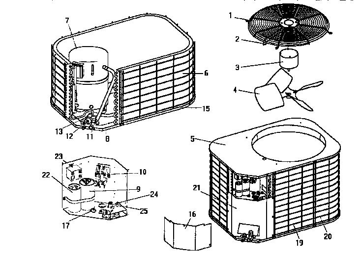 coleman evcon ind central air conditioners parts model unit parts