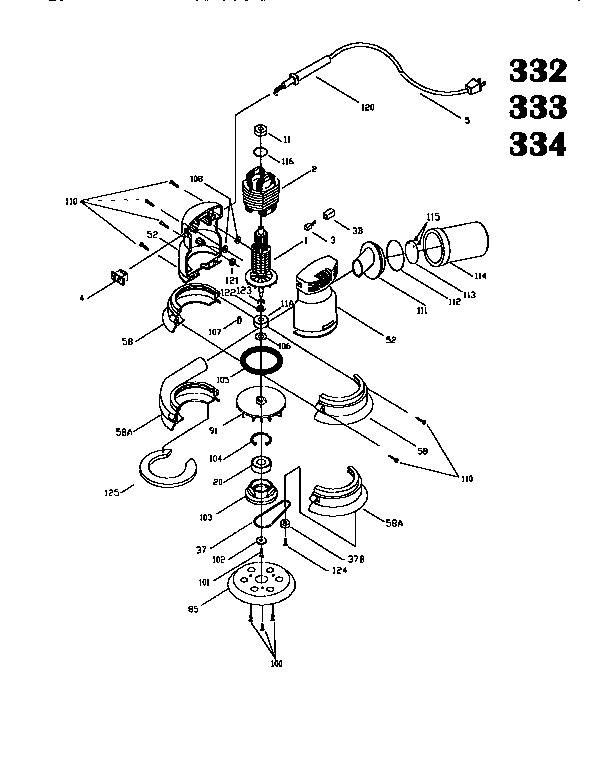 Porter Cable Model 333 1990 Model Sander Genuine Parts