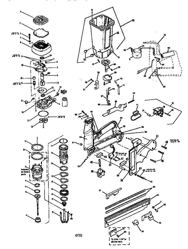 Paslode Model Im250f 16 Ii Nailer Genuine Parts