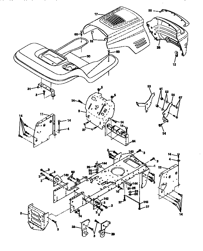 CRAFTSMAN Lawn, Tractor Chassis And Enclosures parts