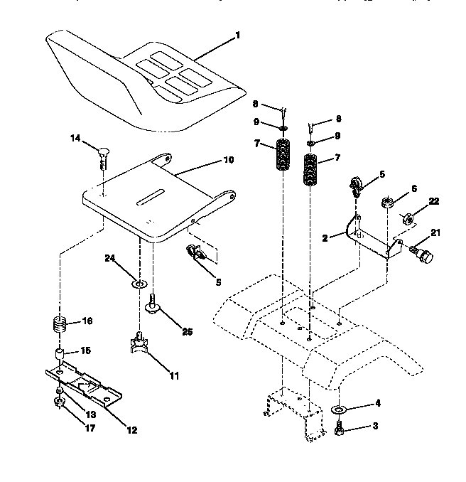 CRAFTSMAN Lawn, Tractor Seat Assembly parts