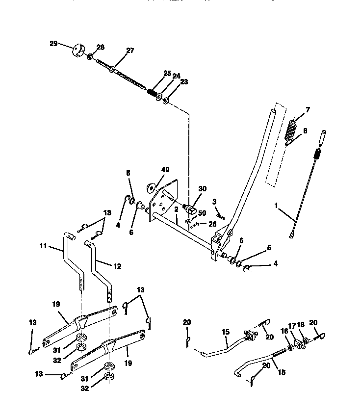 CRAFTSMAN Lawn, Tractor Lift Assembly parts