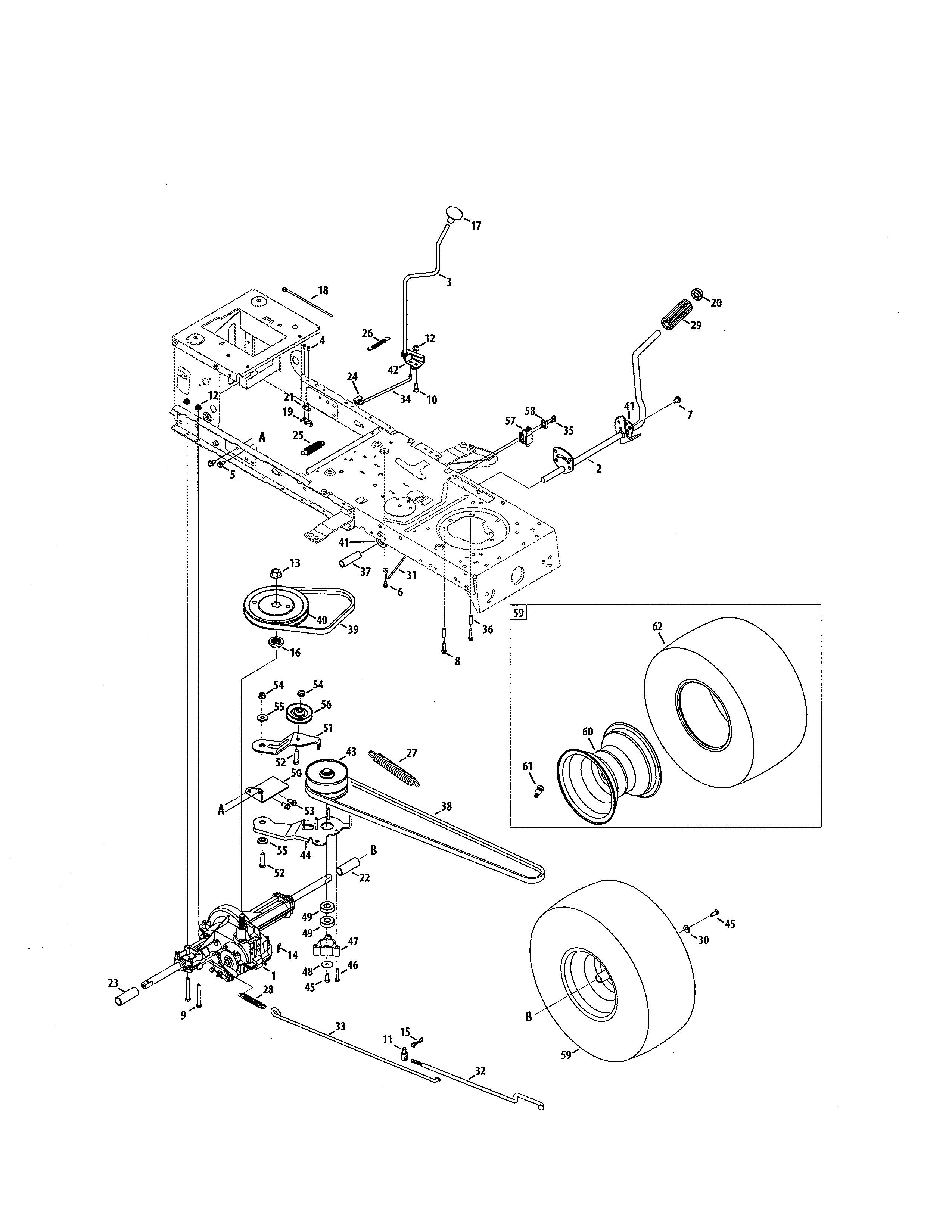craftsman tractor parts