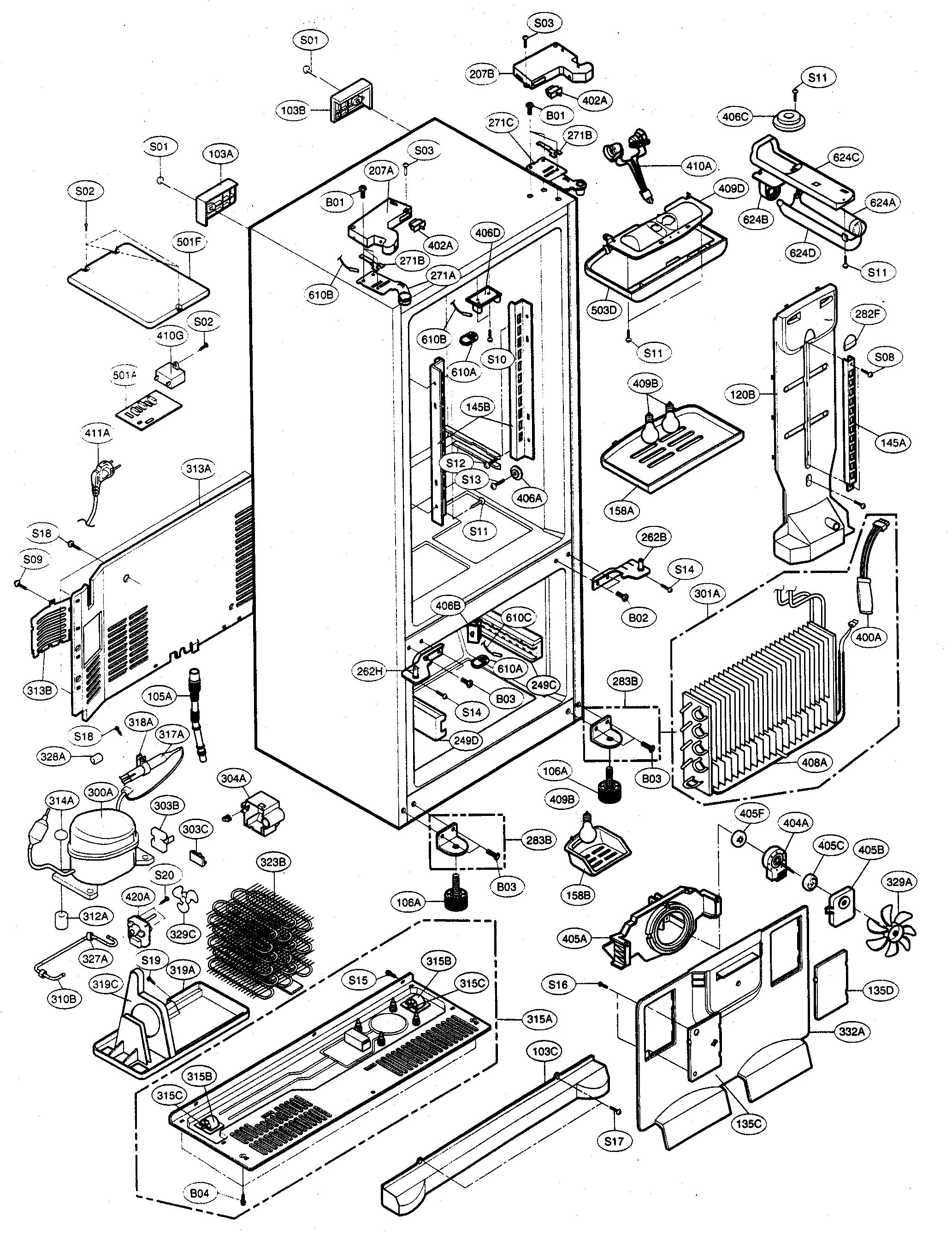 kenmore elite refrigerator parts model 79575542401. Black Bedroom Furniture Sets. Home Design Ideas