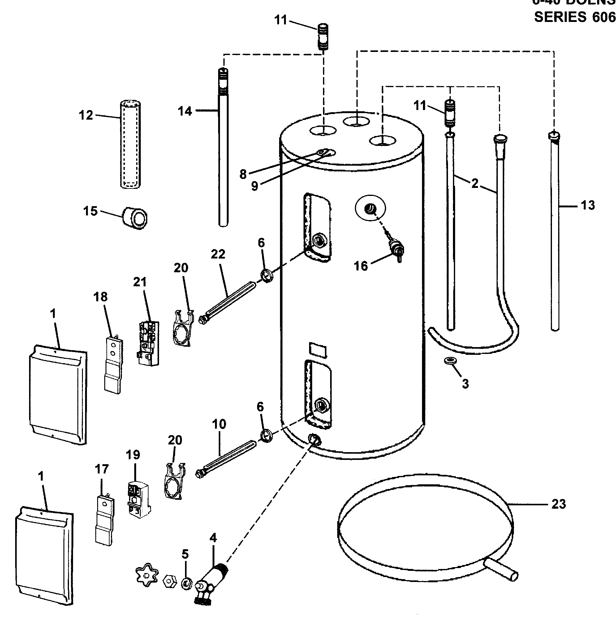 reliance model 640dort water heater electric genuine parts rh searspartsdirect com