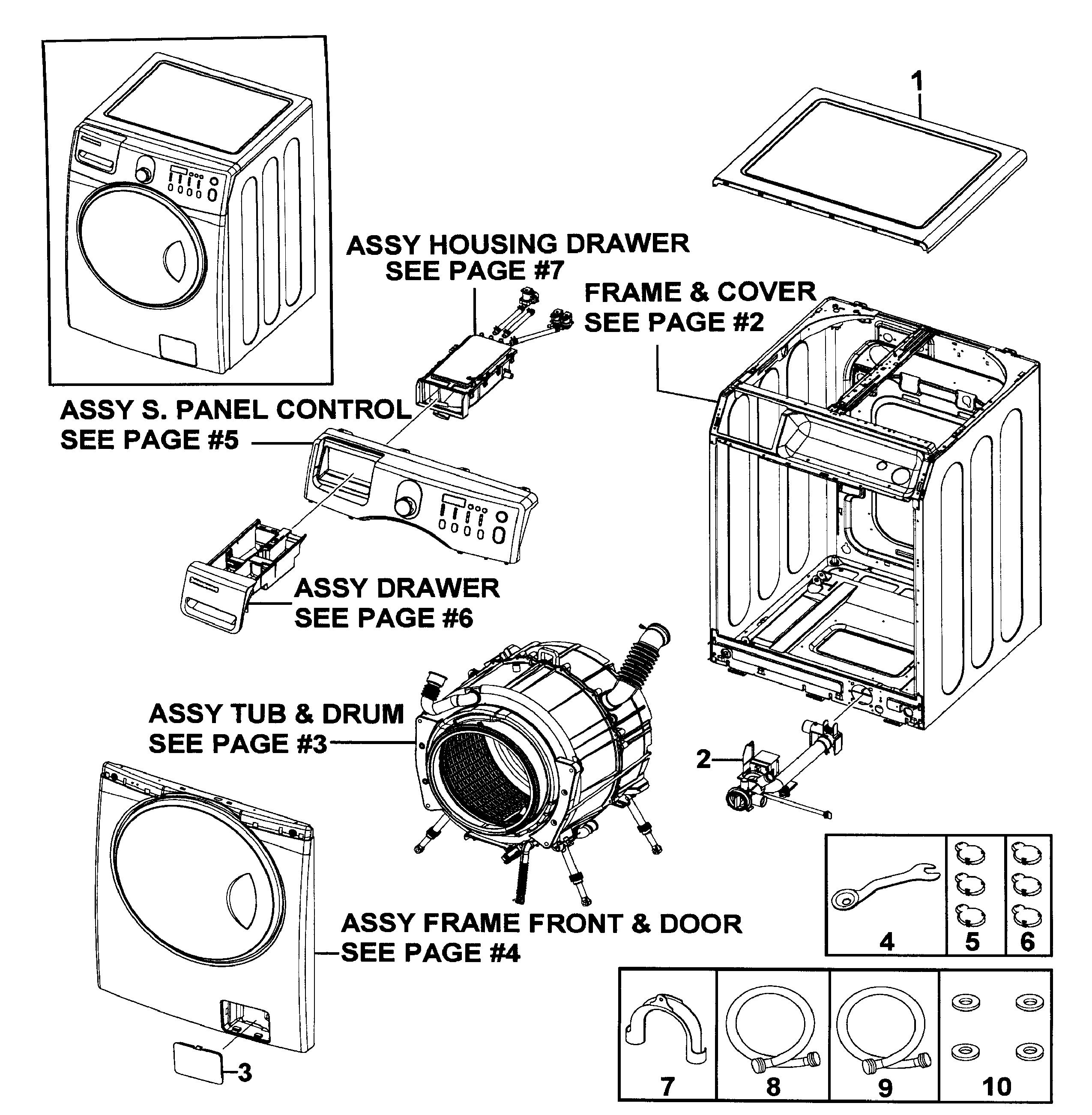 SAMSUNG WASHER Parts | Model WF219ANWXAA0000 | Sears ...