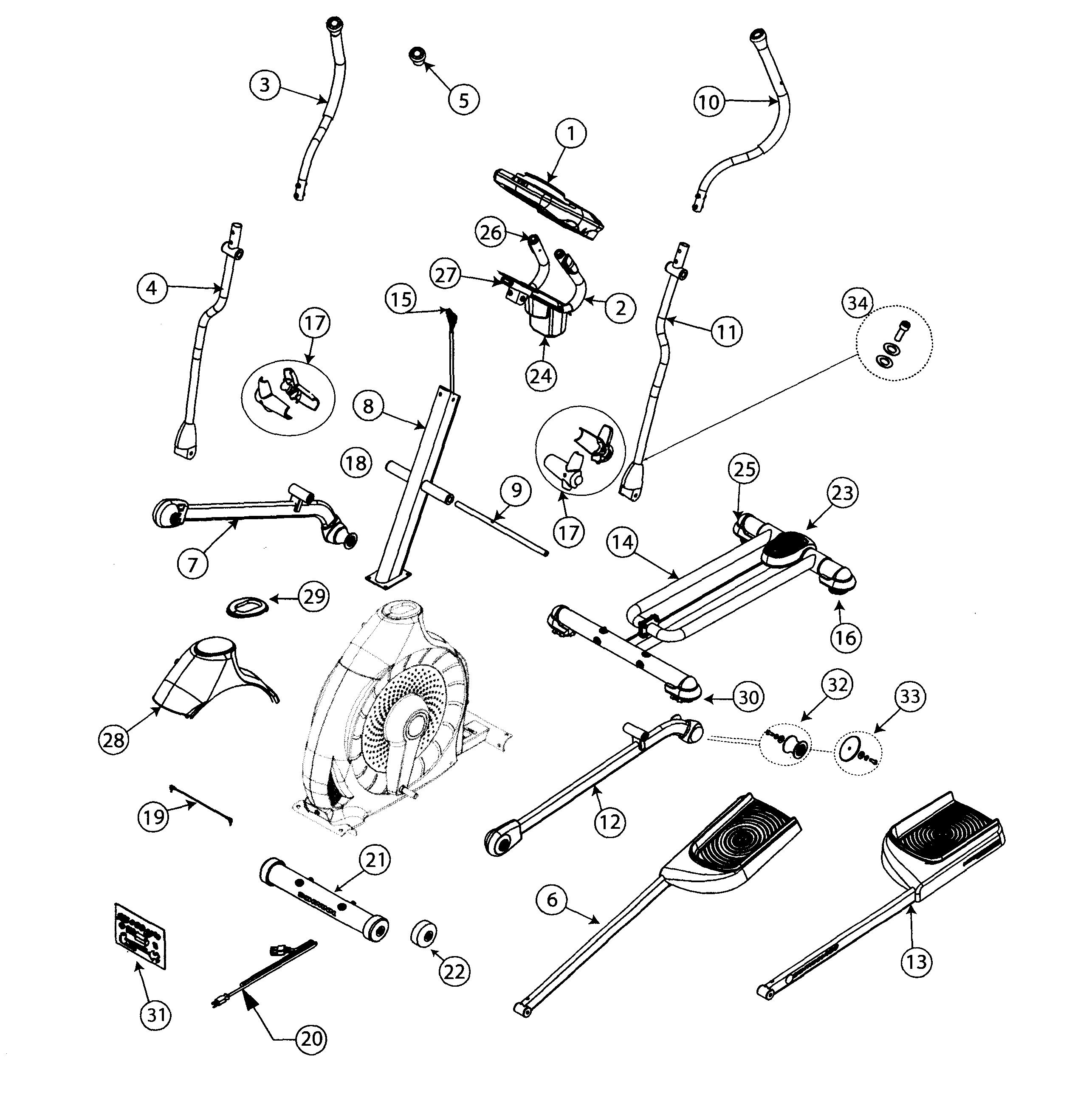 schwinn model schwinn 470 elliptical genuine parts