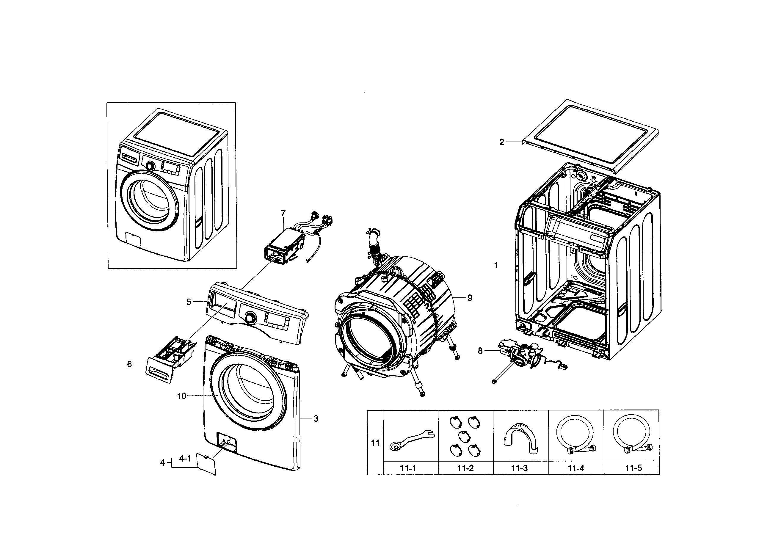 samsung washer parts