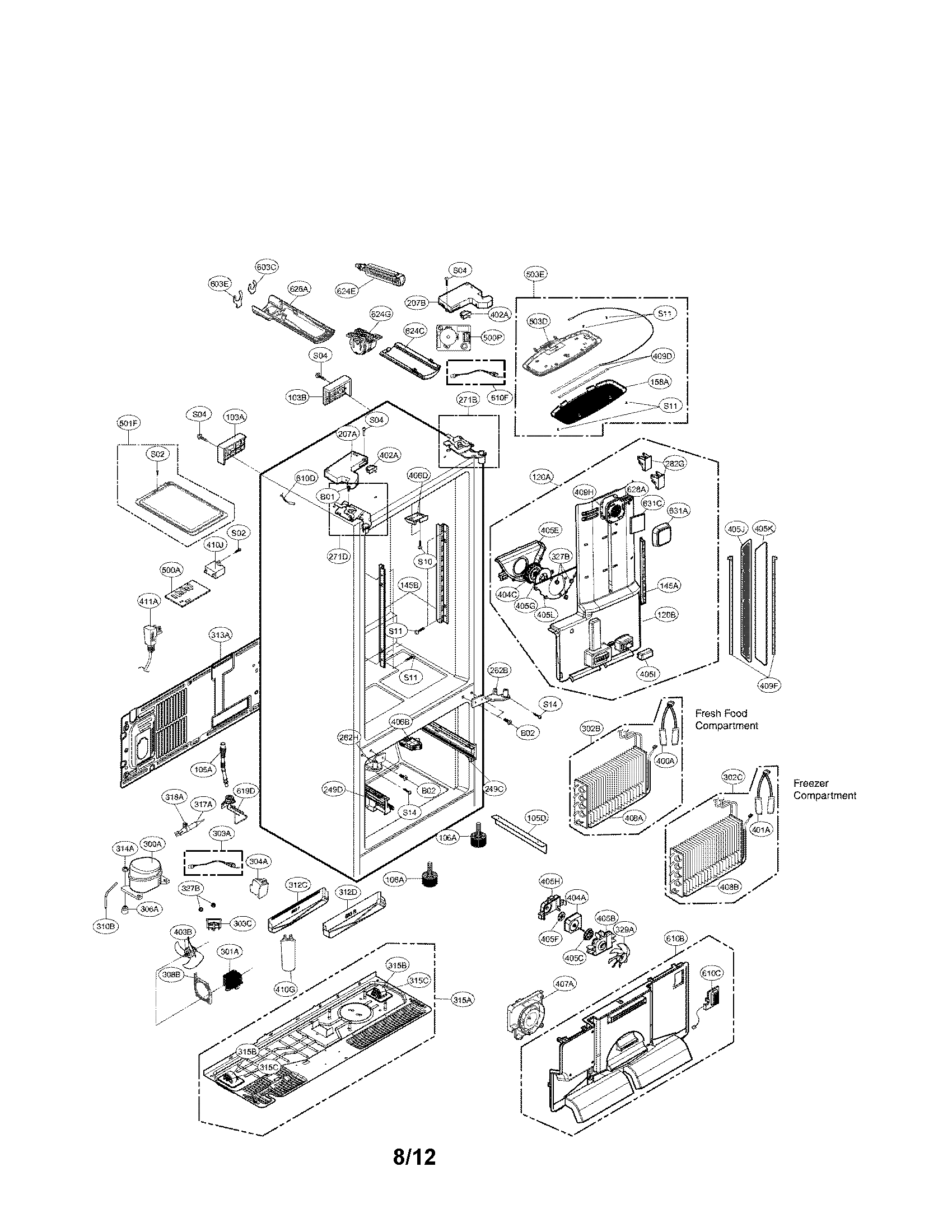 Lg Refrigerator Parts Model Lfx31945st Sears Partsdirect