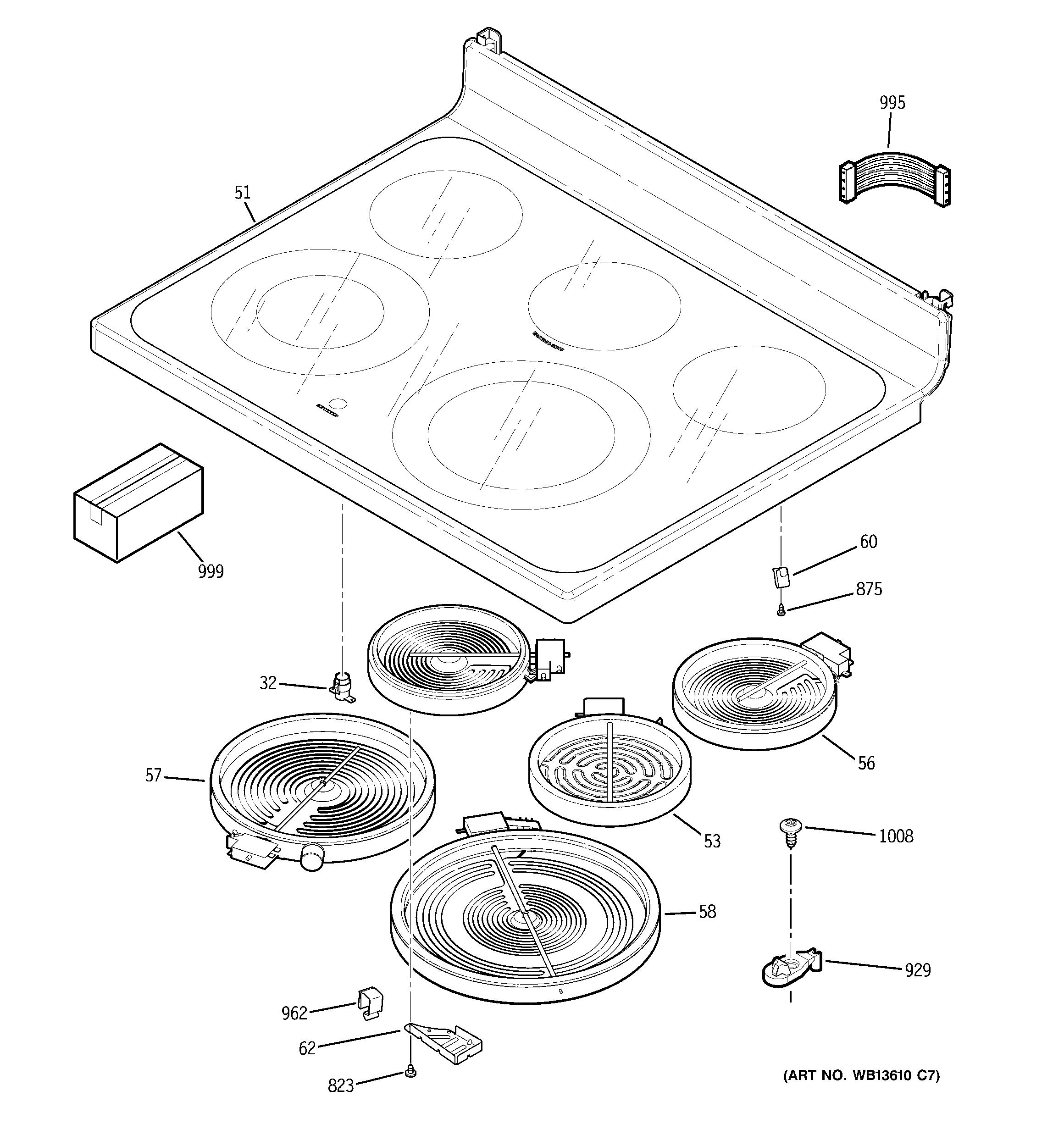 ge electric range parts