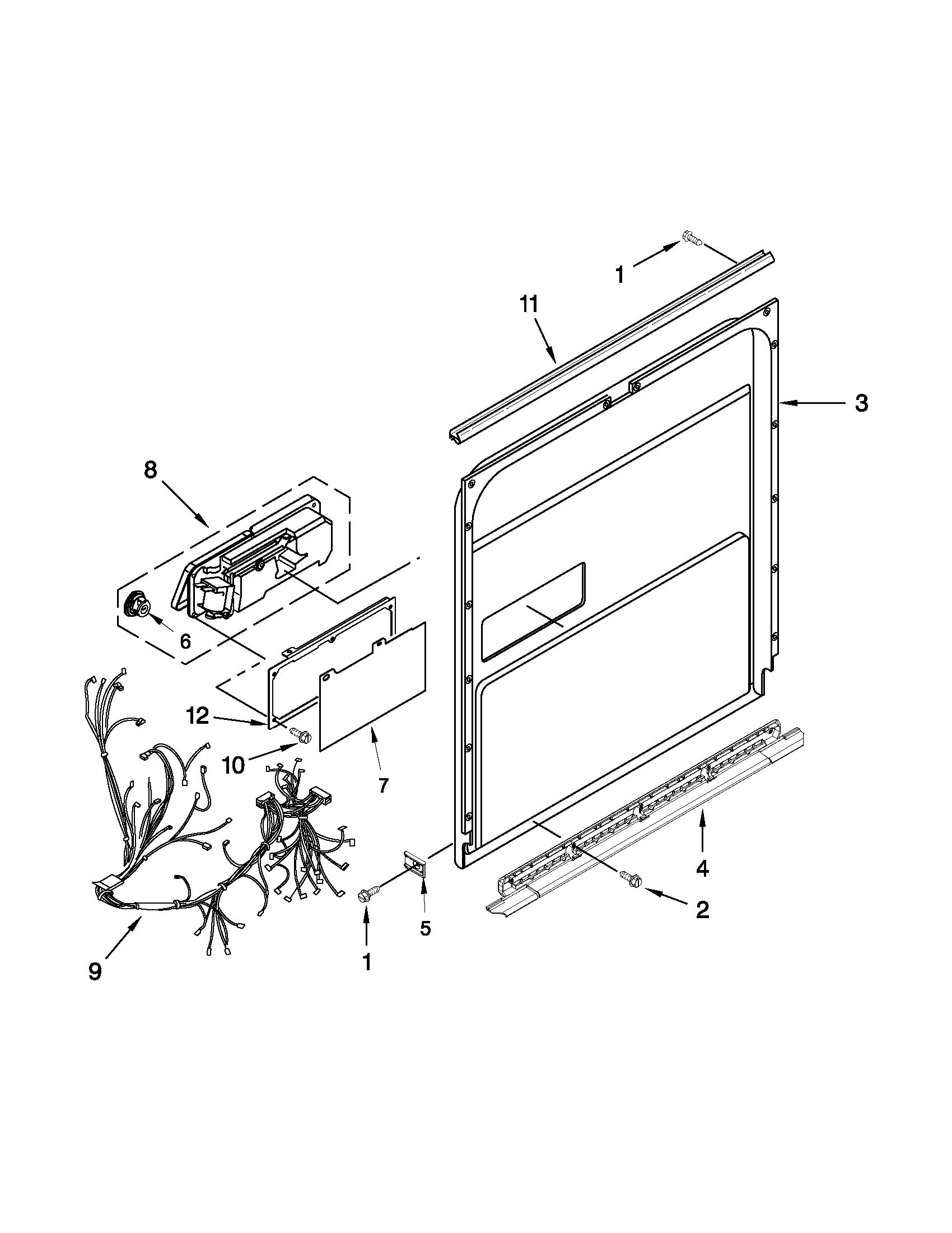 kenmore elite dishwasher parts manual