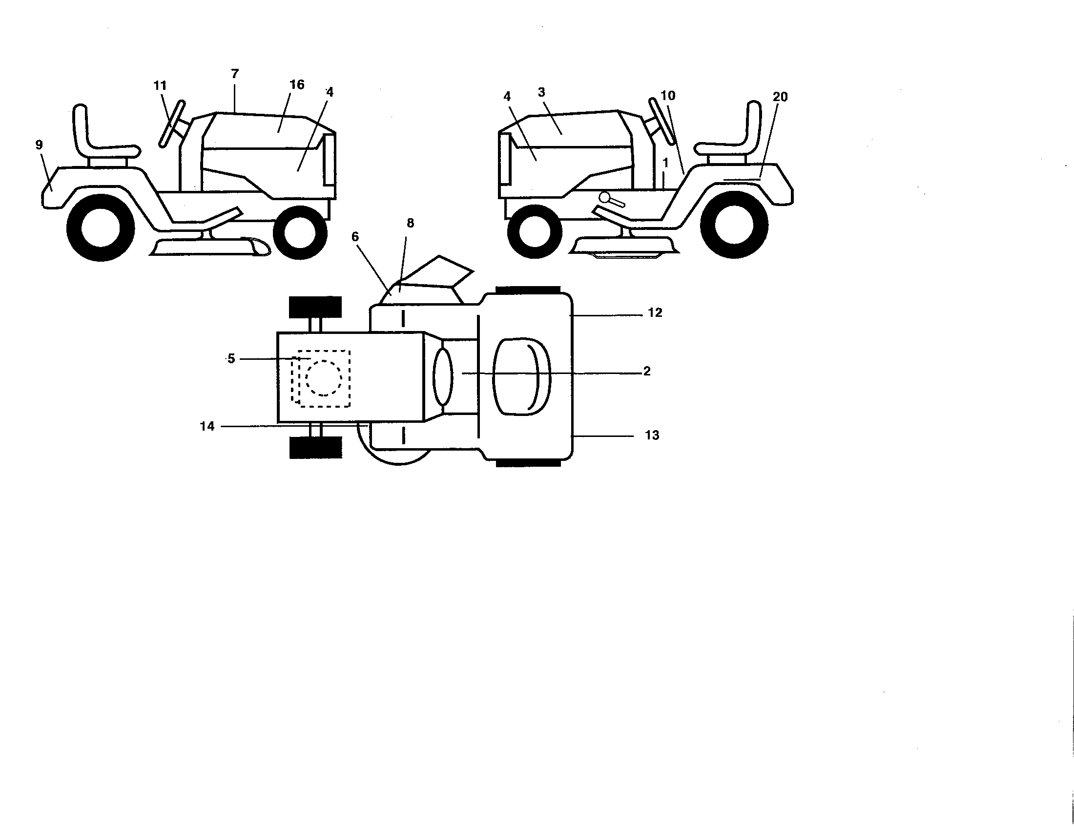 POULAN Lawn, Tractor Decals parts