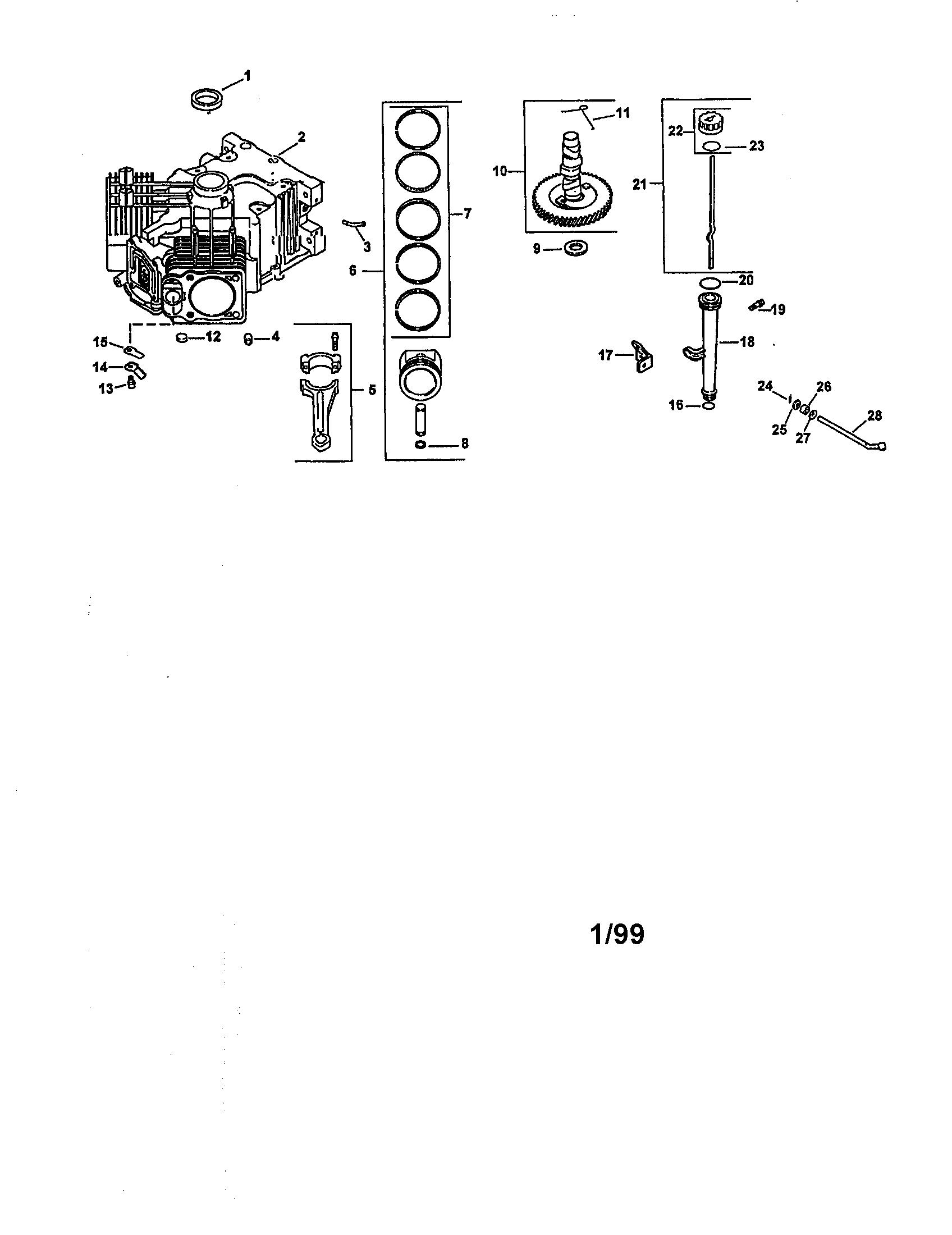 kohler engine parts model cv20s65551 sears partsdirect crankcase