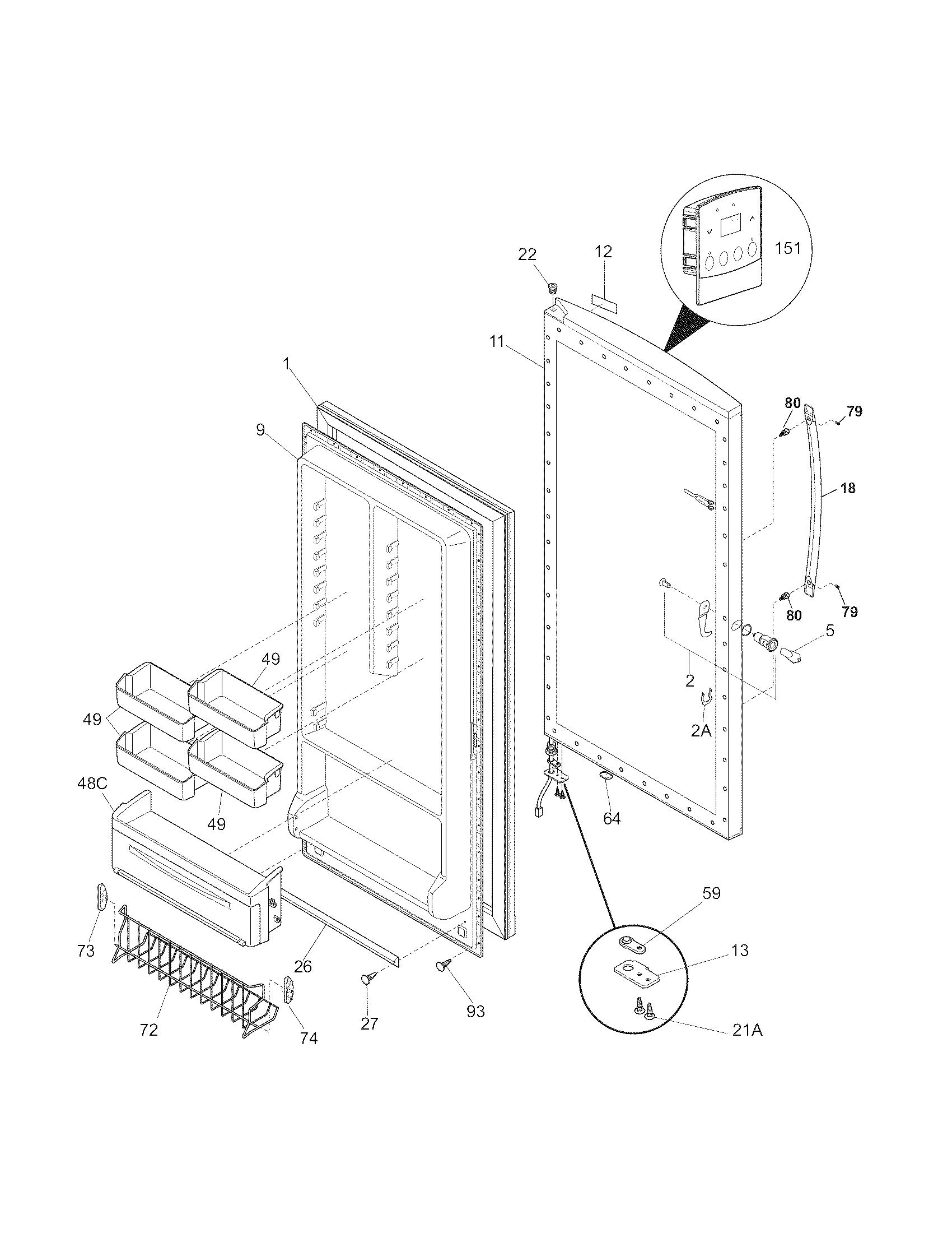 Kenmore Elite Freezer Parts Model 25328712806 Sears