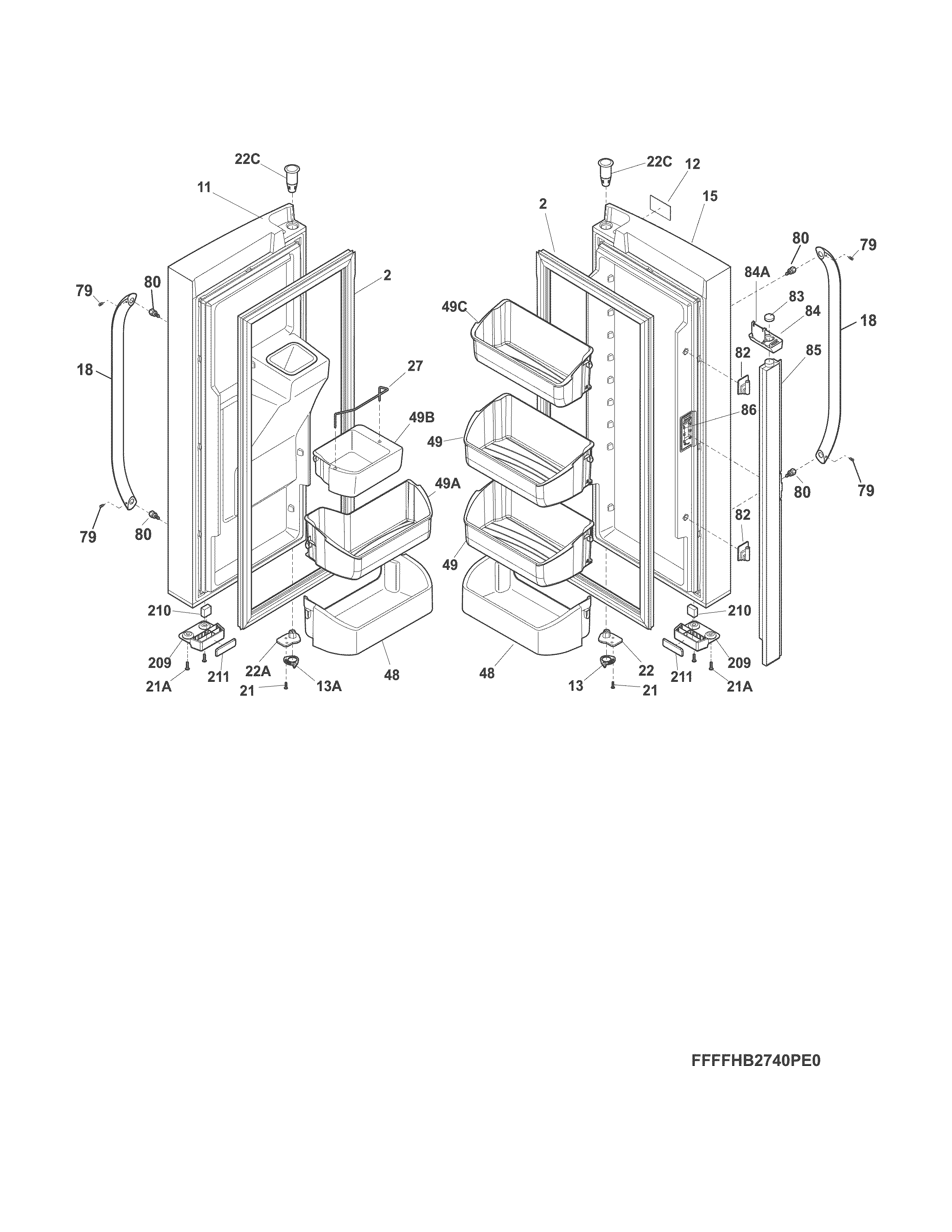 frigidaire model lfhb2741pf8a bottom