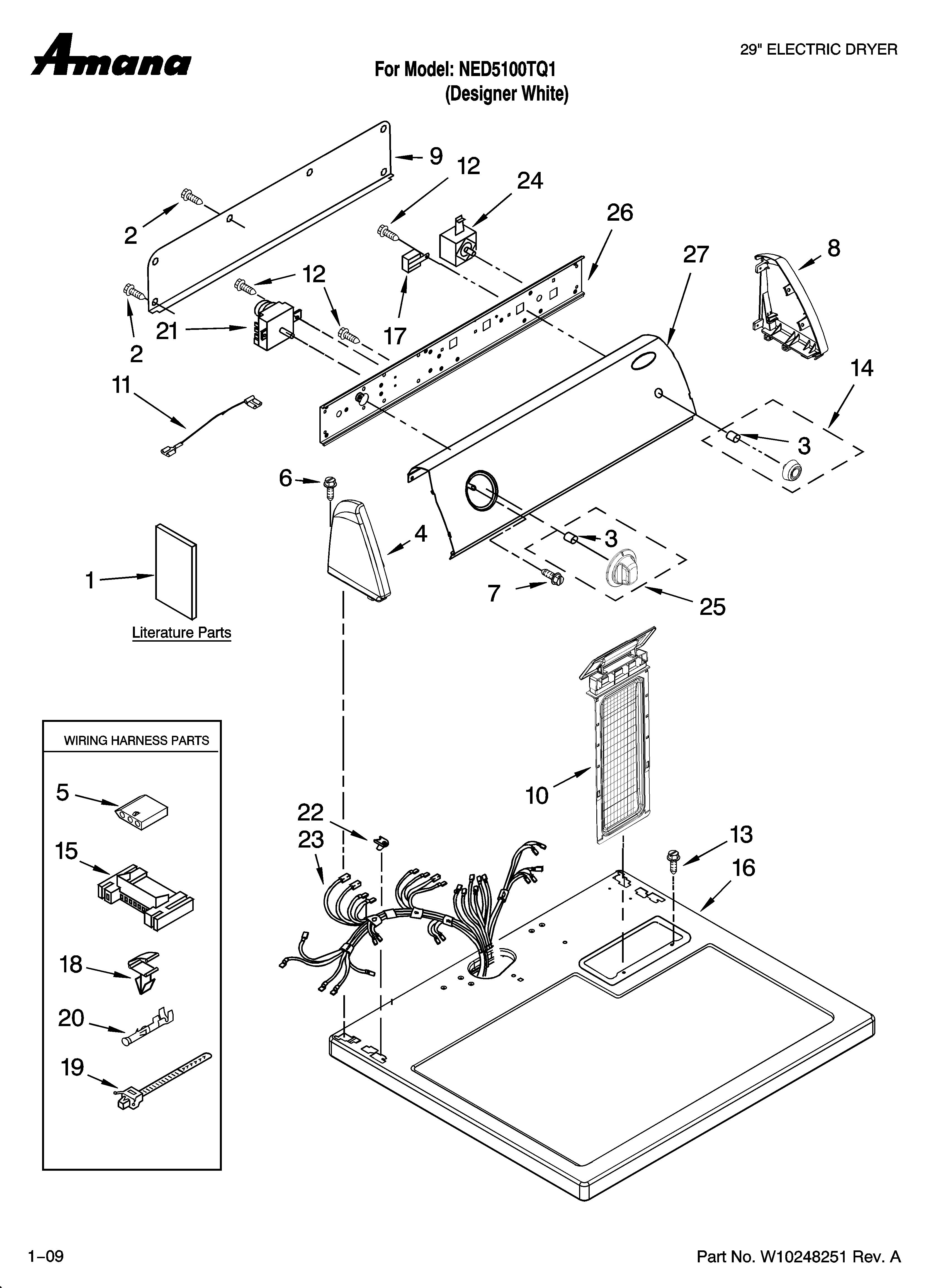 Wiring Diagram  30 Amana Dryer Belt Diagram