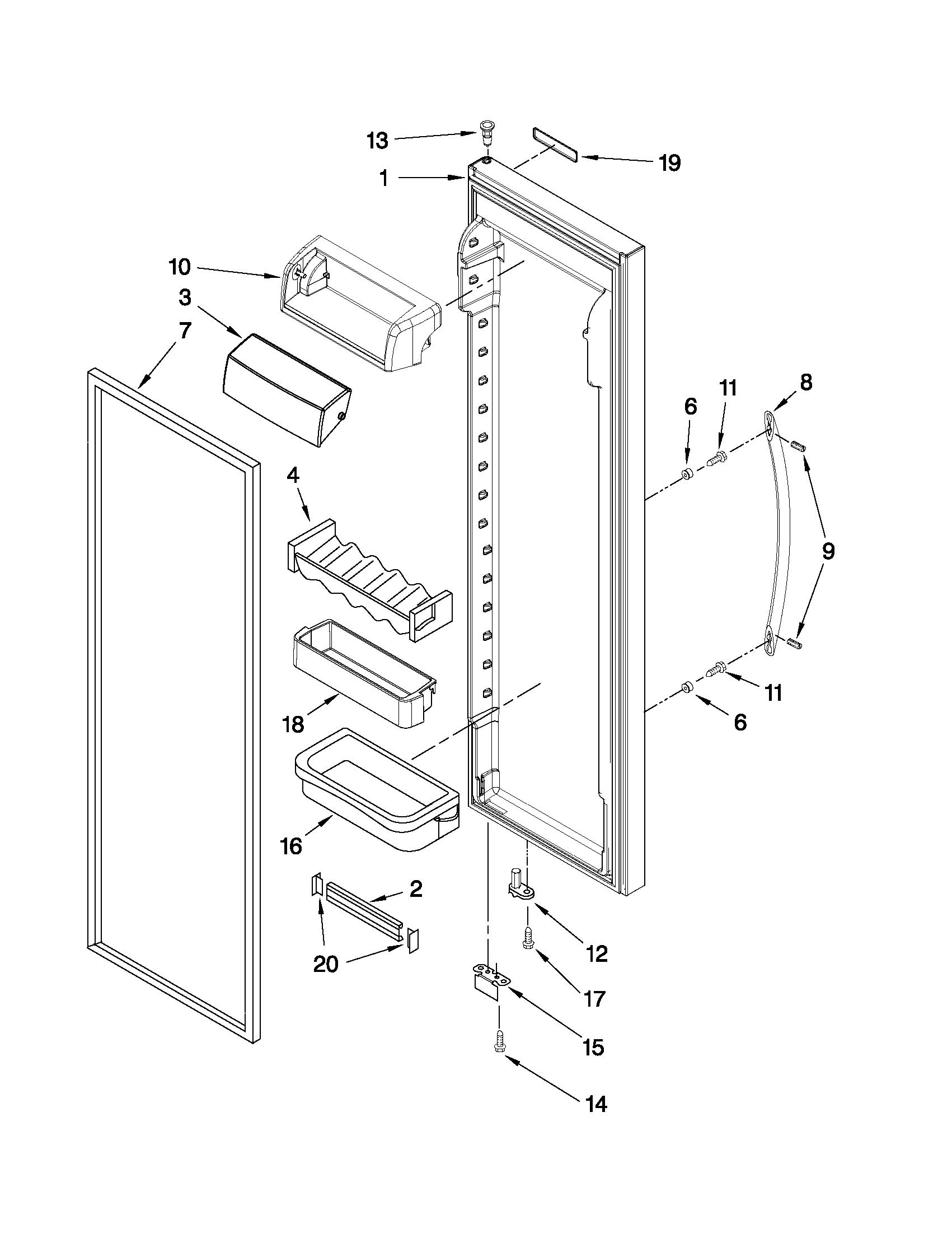 Kitchenaid Model Kscs25fvms03 Side By Side Refrigerator
