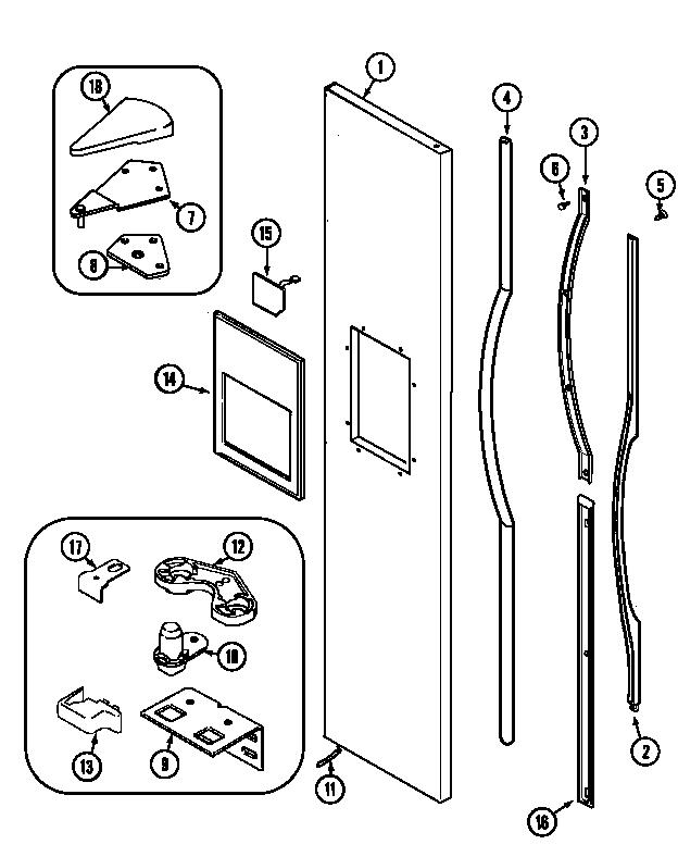 Jenn Air Model Jsd2588aea Side By Side Refrigerator