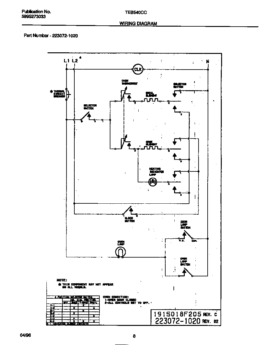 tappan tappan electric wall oven - 5995273033 parts ... wiring diagram for electric motor with capacitor #15