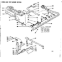 Kenmore 1197457610 oven and top burner section diagram