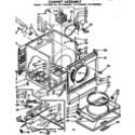 Sears 11077694600 cabinet assembly diagram