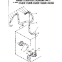 Kenmore 11085365600 water system parts non-suds only diagram