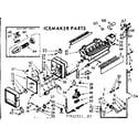 Kenmore 1067650541 icemaker parts diagram