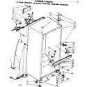 Kenmore 1068614840 cabinet parts diagram