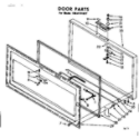 Kenmore 1988101837 door parts diagram