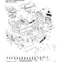 Craftsman 91725790 main frame, dashboard & grill diagram