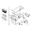 Kenmore 198710621 cabinet parts diagram