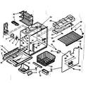 Kenmore 1066685230 freezer section parts diagram