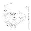 Kenmore 101913631 cook top section diagram