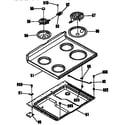 Kenmore 3636244190 main top section diagram