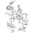 Craftsman 225582500 swivel bracket/driveshaft hsg diagram