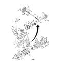 Poulan PP7527ES-96192000500 auger housing/impeller assembly diagram