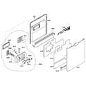 Bosch SHE65P02UC/53 door assy diagram