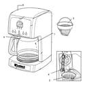 Kenmore 10080666 coffee maker diagram