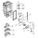 Samsung RFG298HDRS/XAA-00 left door diagram