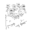 Fisher & Paykel OR36SDBGX2-88653-A gas hob diagram