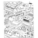 Samsung RF268ABRS/XAA-00 freezer diagram