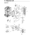 Samsung RF28HDEDPWW/AA-03 fridge door l diagram