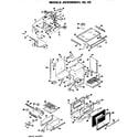 GE JGHC56GEH2 main body/cooktop/door/broiler/backsplash diagram