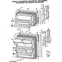 GE TBX14DRGRAD doors diagram