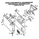 GE DDG7280RALAA cabinet front diagram