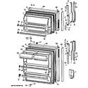 GE TBX14SASJRAD doors diagram