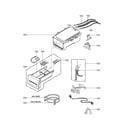 LG WM2601HW dispenser parts diagram
