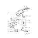 LG WM2455HG dispenser parts diagram