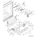 GE PFCF1NFXCWW freezer section diagram